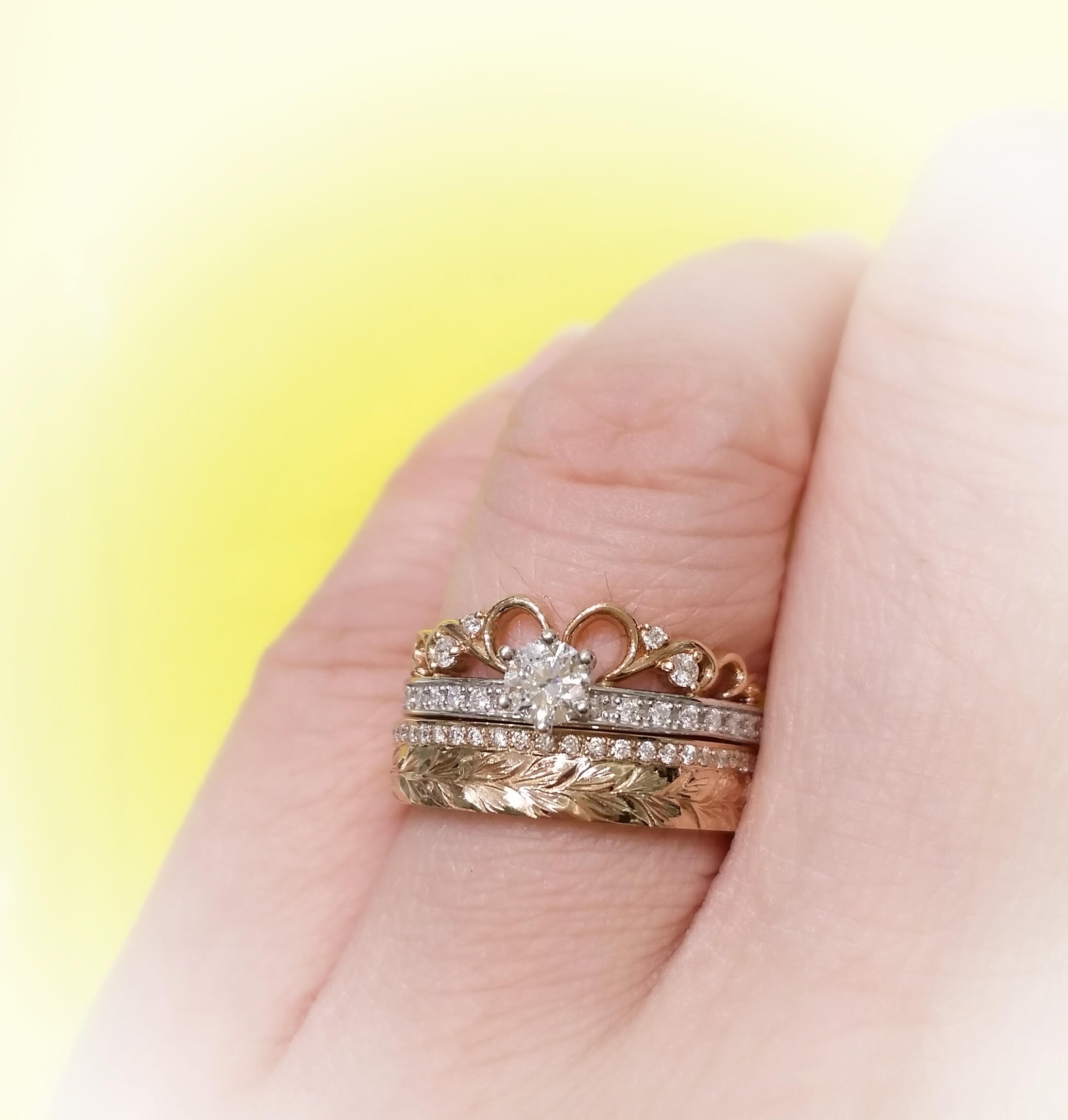 styles wedding with venus stacked ring our stacking blog tears sarah rings bands sg