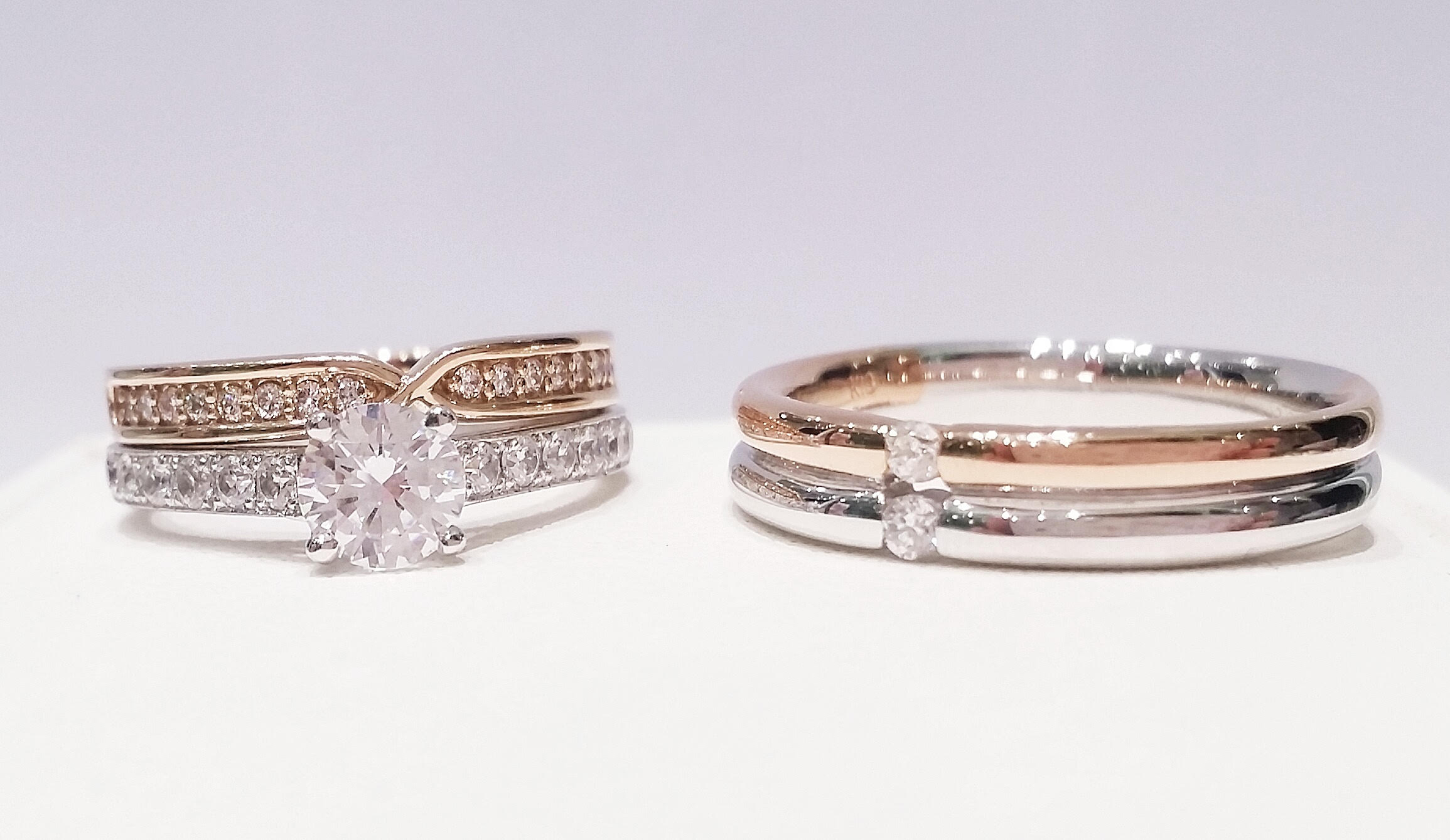 Stacked Wedding Ring Styles VENUS TEARS Wedding Bands