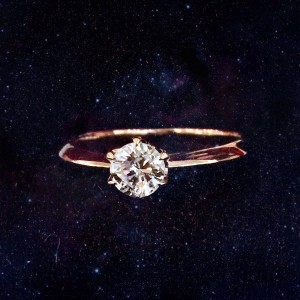 0.5ct rose gold ring