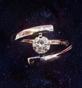 K18wg 0.3ct dia ring