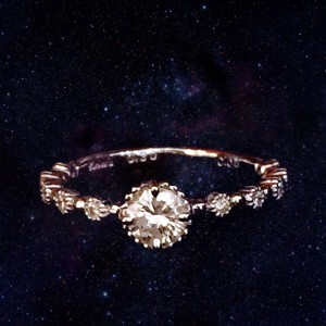 K18WG 0.3ct ring