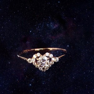 K18 rose gold 0.2ct dia ring