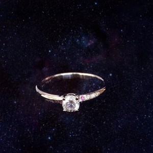 K18wg 0.2ct dia ring
