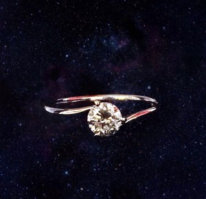 K18wg 0.5ct dia ring