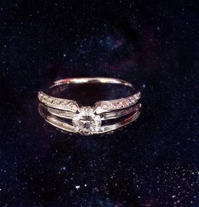 K18wg 0.53ct ring