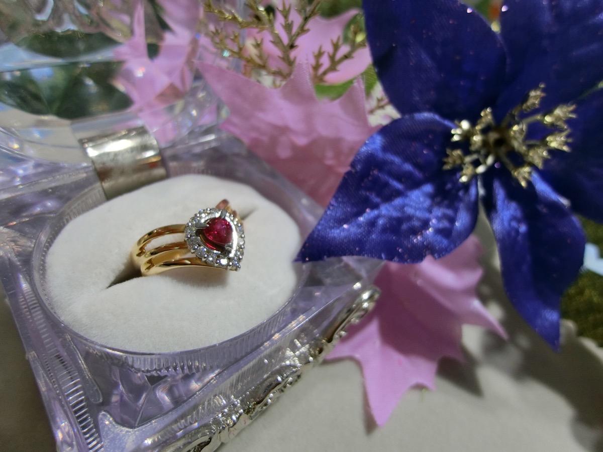 K18YG ruby ring