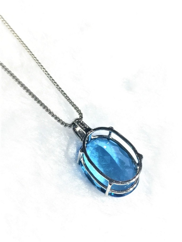 Back of Topaz Necklace