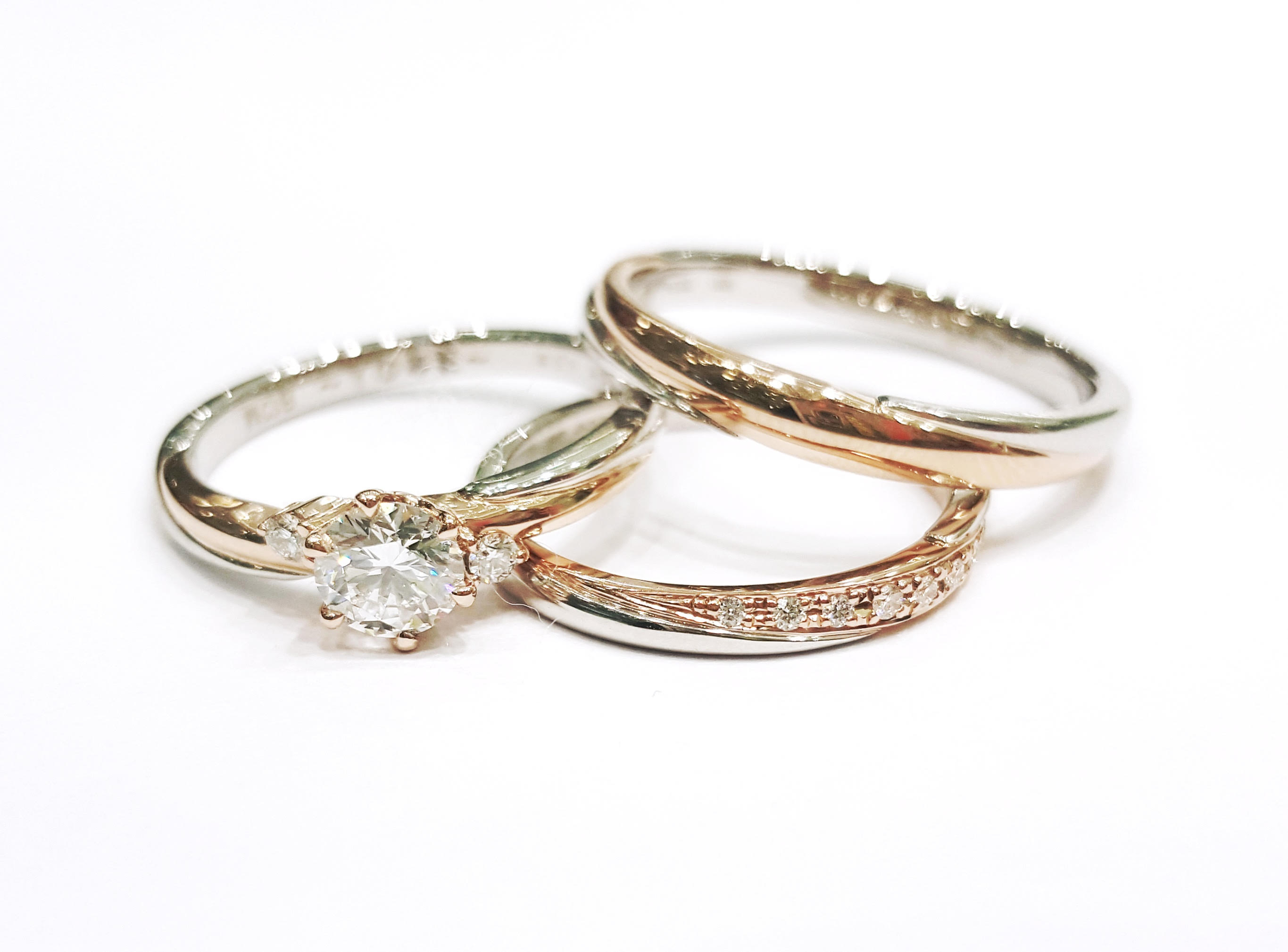 two tone wedding bands venus tears wedding bands