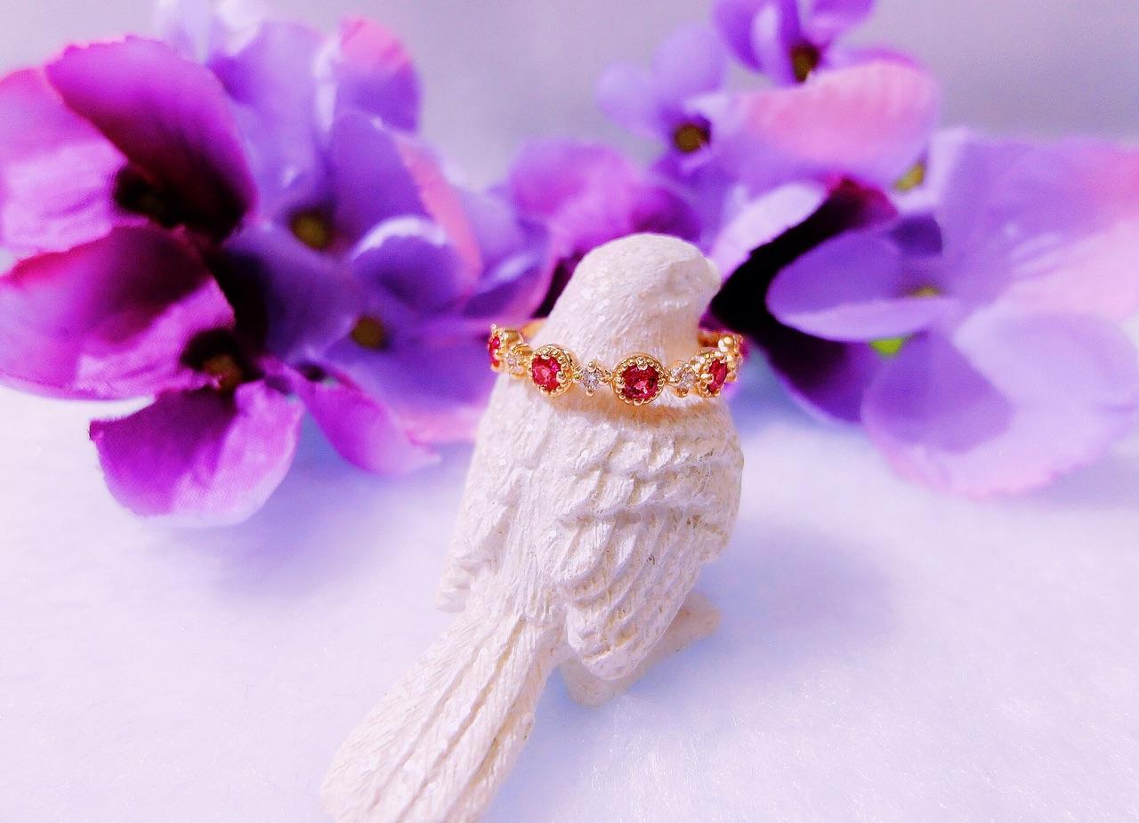 LUKINA RUBY PINKY RING