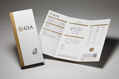 All GIA certified diamonds sold at VENUS TEARS comes with Grading Report.