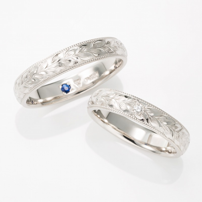 Wedding Bands - Singapore:MAILE LEI 3mm/4mm_01