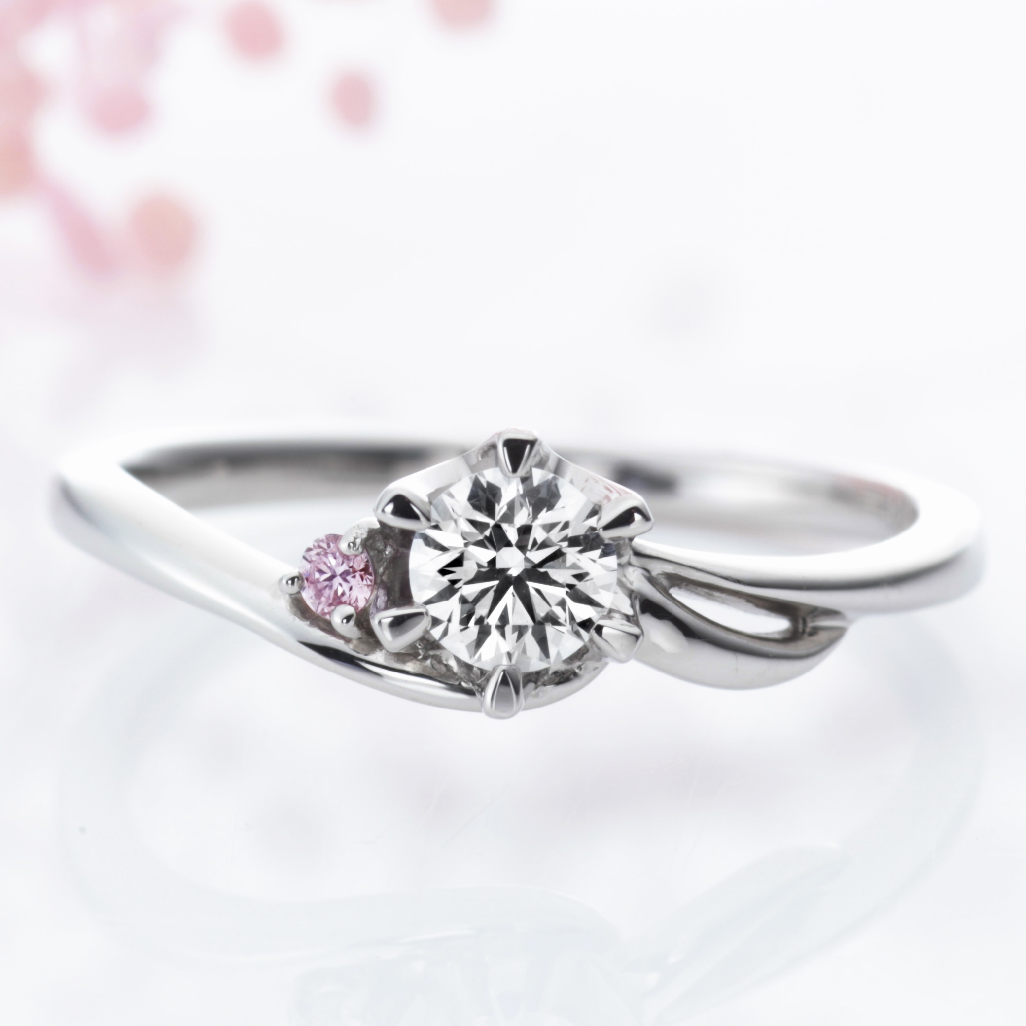 diamond product engagement rings cut archer apink ring round pink brilliant holland wedding