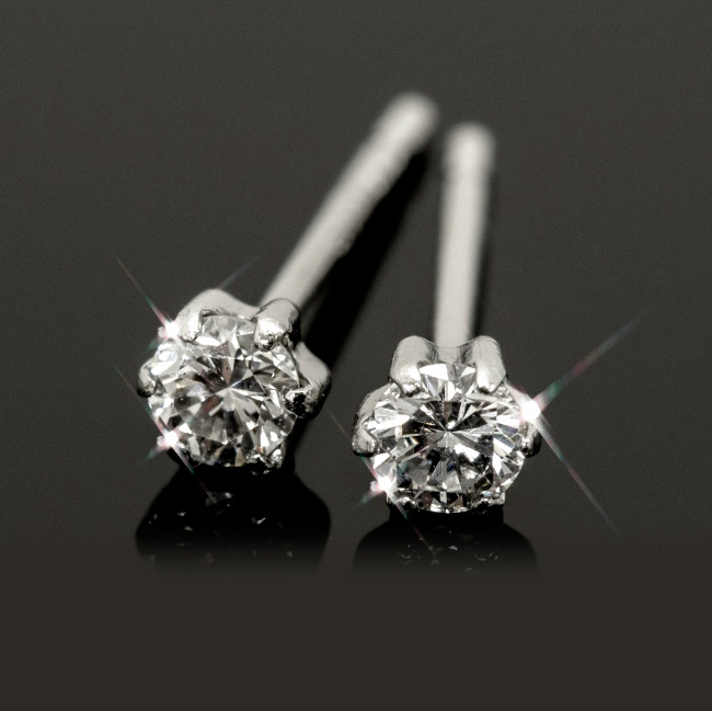 0.1ct Diamond Stud Earrings