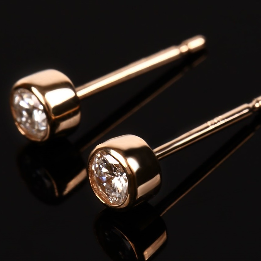 0.2ct Diamond Bezel Earrings