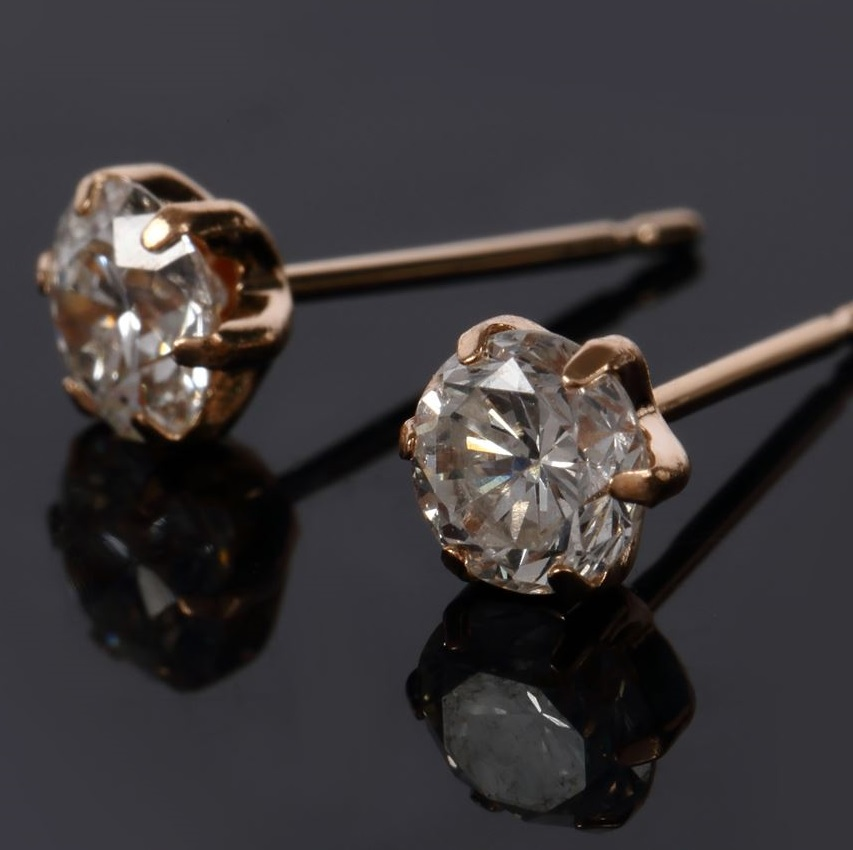 0.8ct Diamond Stud Earrings