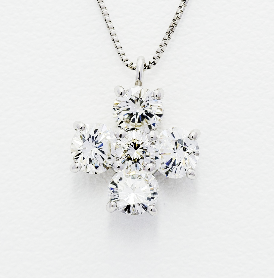 K18 1.0ct Diamond Necklace