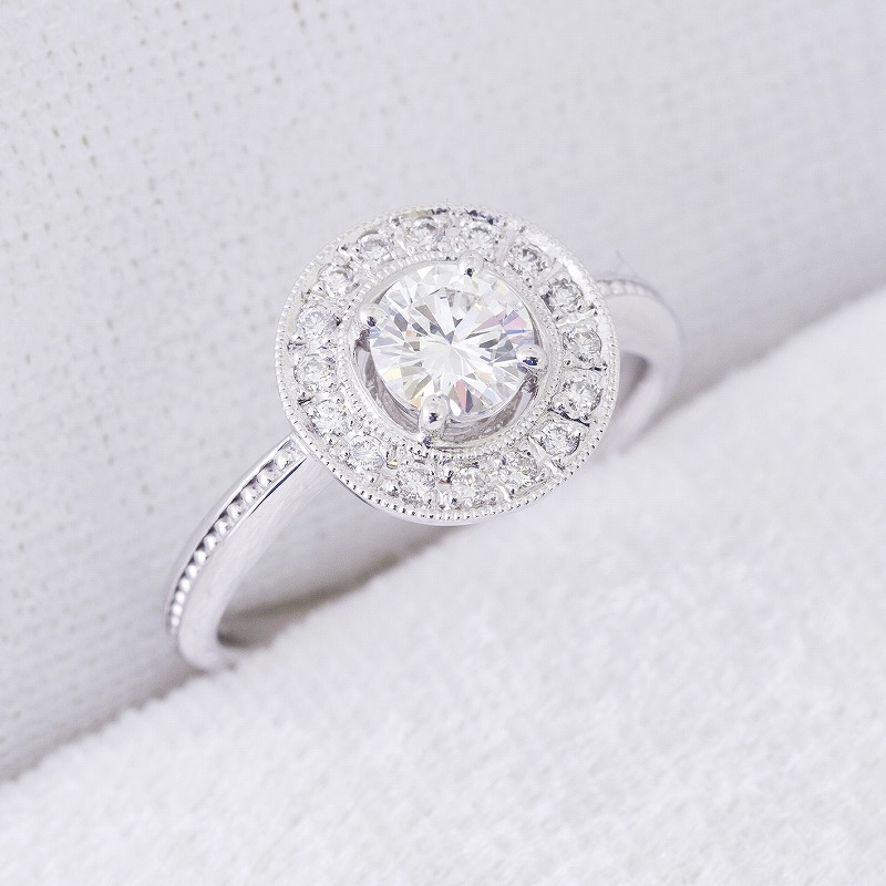 K18 0.2ct Diamond Ring 03B-0392-05