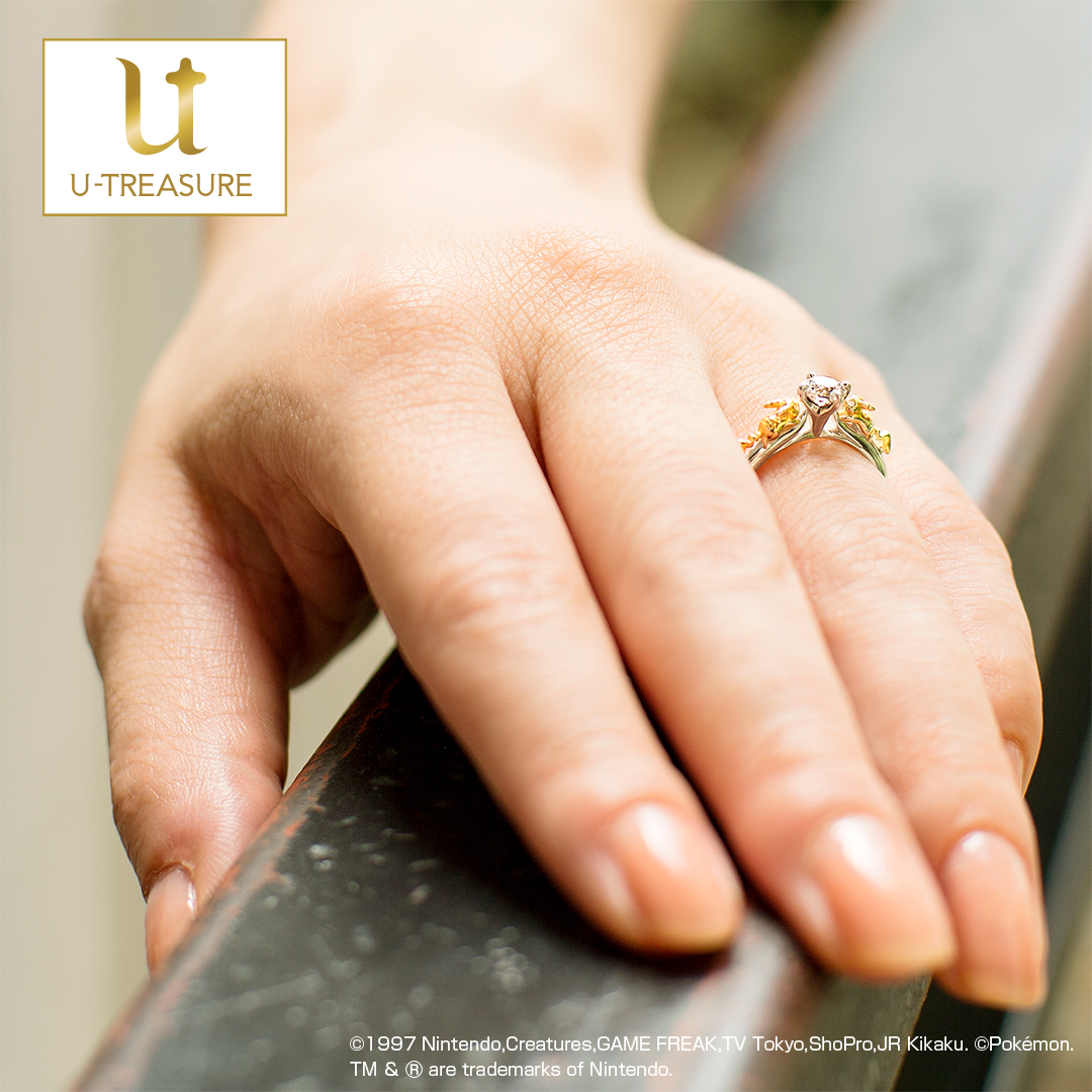 Engagement Ring ? Singapore:Pikachu Solitaire Ring_03
