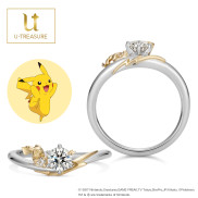 Pikachu Solitaire Ring